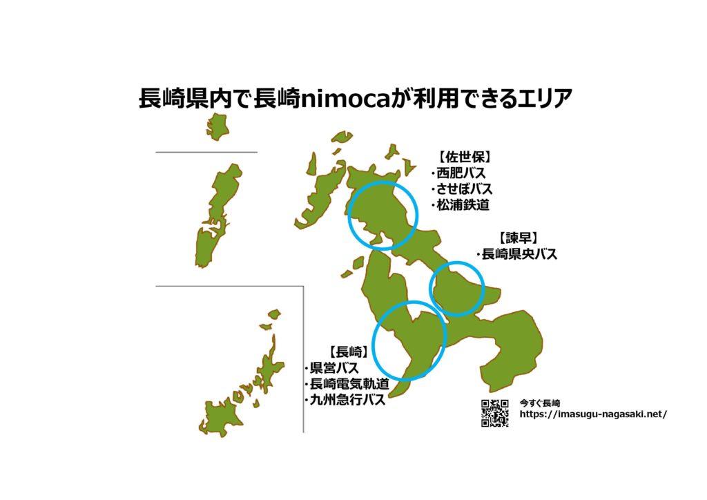 長崎nimoca(ニモカ)九州全国どこで使える?何に使える?基本情報01長崎編
