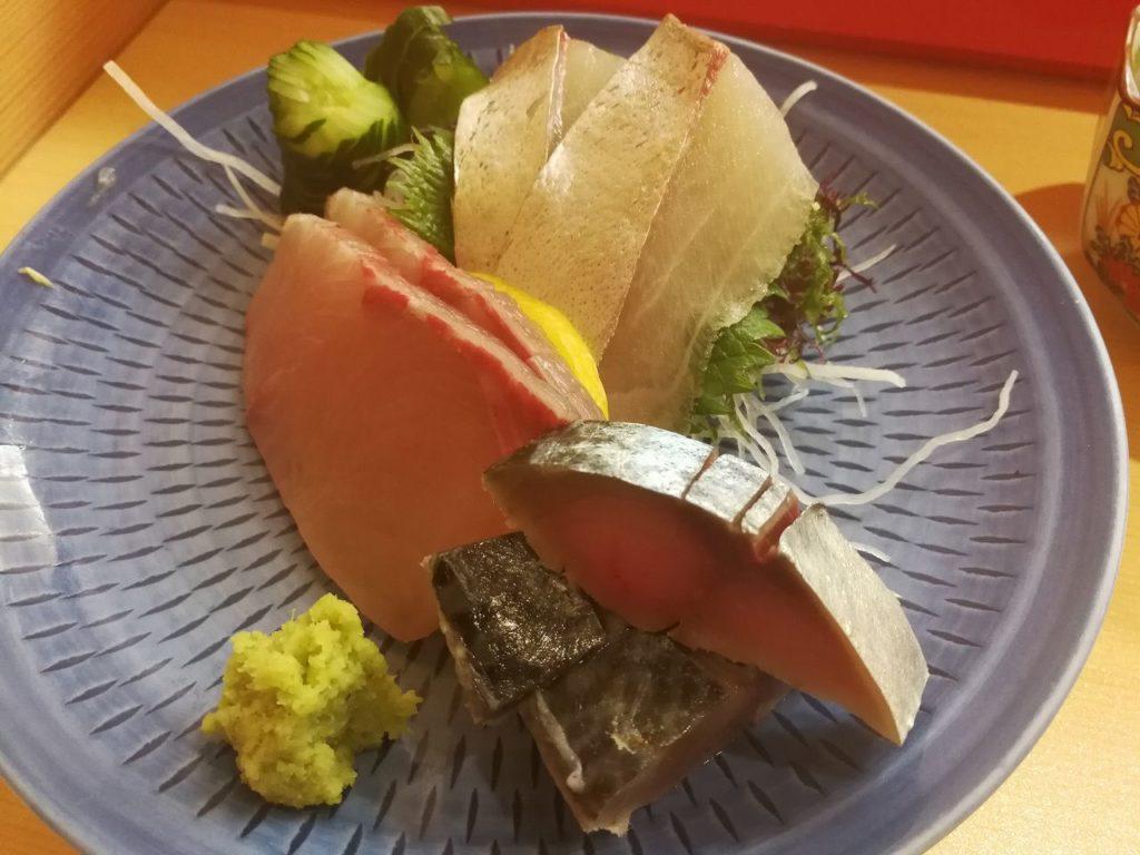 長崎空港鮨どころ しょうぶの青物刺し身