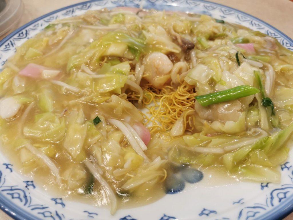 長崎空港の中華レストラン牡丹の皿うどん細麺