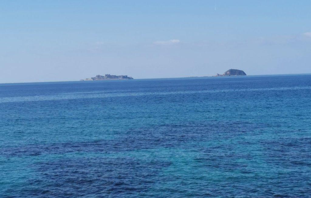 のもざき水仙まつりアクセスで見える軍艦島その2