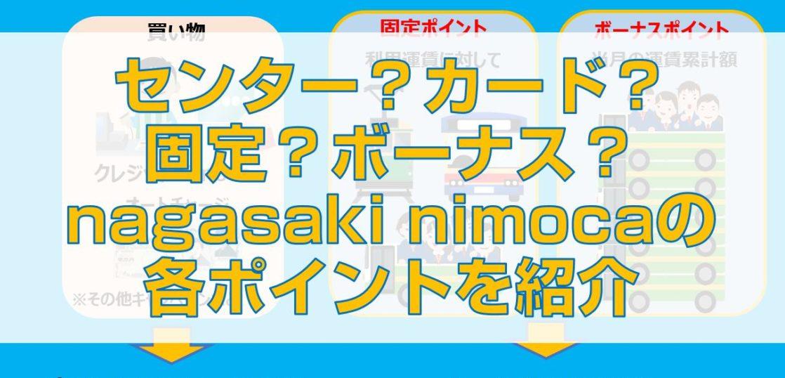 センター?カード?固定?ボーナス?nagasaki nimocaの各ポイントを紹介top