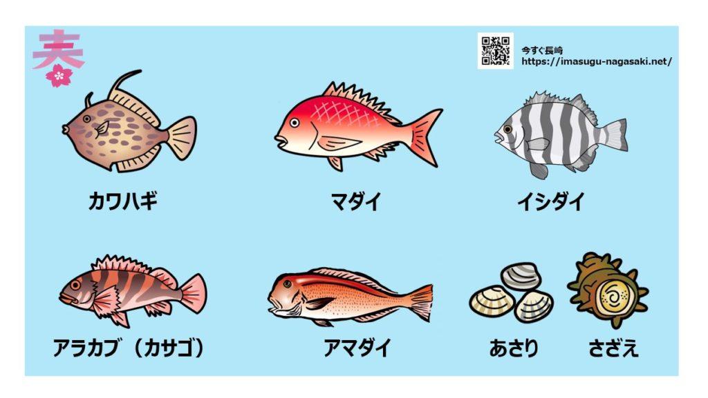 長崎の春に旬を迎える魚の種類