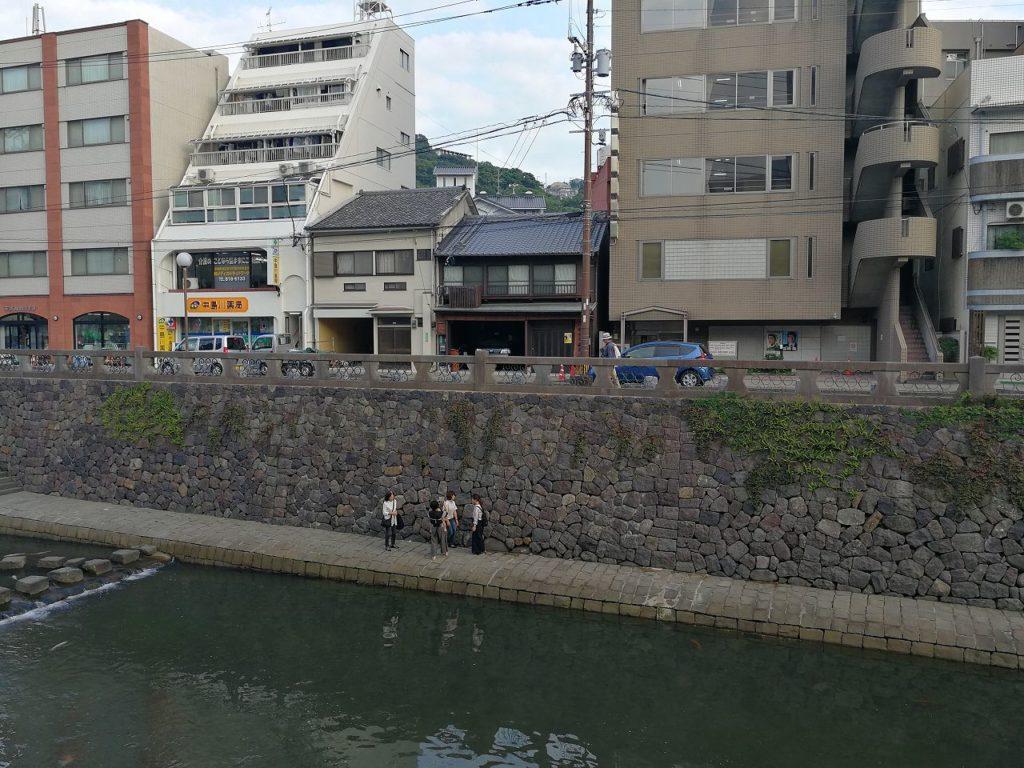 長崎中島川のハートストーン